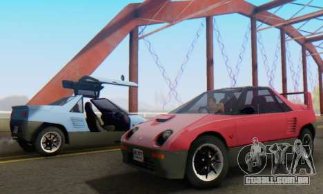 Mazda Autozam AZ-1 para vista lateral GTA San Andreas