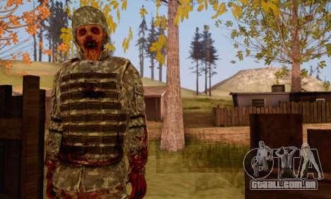 Zombie Soldier para GTA San Andreas terceira tela