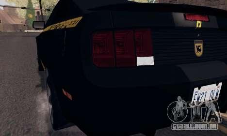 Ford Mustang Shelby Terlingua 2008 NFS Edition para as rodas de GTA San Andreas