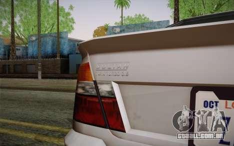 Sultan из GTA 5 para GTA San Andreas vista direita
