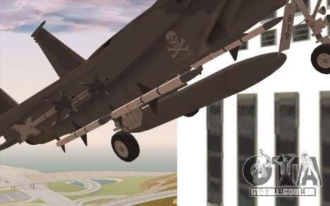 F-15C Eagle para GTA San Andreas vista direita