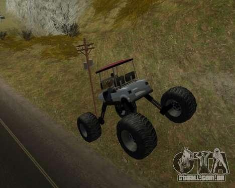 Caddy Monster Truck para GTA San Andreas vista direita