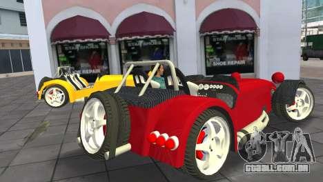 Caterham Super Seven para GTA Vice City deixou vista
