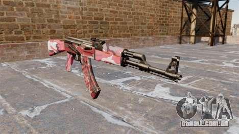 A AK-47 urbana Vermelho para GTA 4