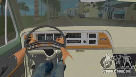 Ford E-150 1983 Short Version Commercial Van para GTA Vice City vista traseira esquerda