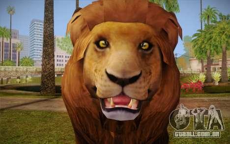 Leão para GTA San Andreas terceira tela