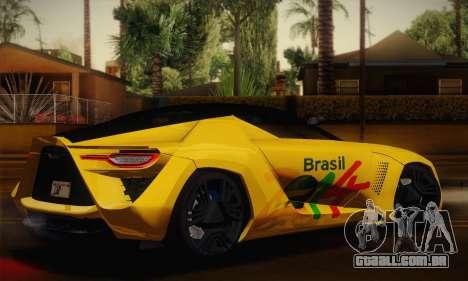 Bertone Mantide World Brasil 2010 para GTA San Andreas esquerda vista