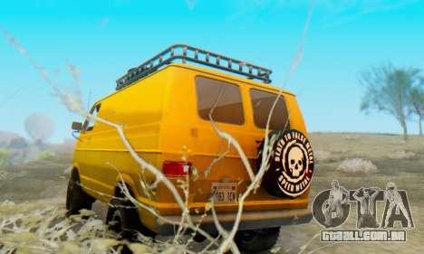 Dodge Tradesman Van 1976 para GTA San Andreas vista direita