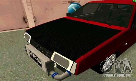 VAZ 2108 Turbo para GTA San Andreas traseira esquerda vista