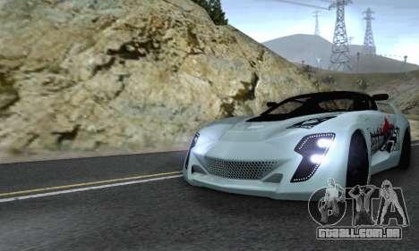 Bertone Mantide 2010 Rock Generation para GTA San Andreas vista superior