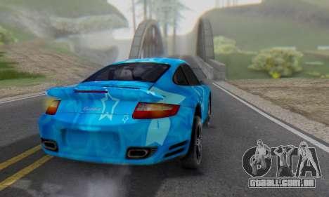 Porsche 911 Turbo Blue Star para GTA San Andreas traseira esquerda vista