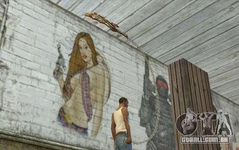 God of War Blade para GTA San Andreas terceira tela
