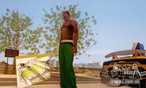 Um sinal de propaganda de cerveja para GTA San Andreas segunda tela