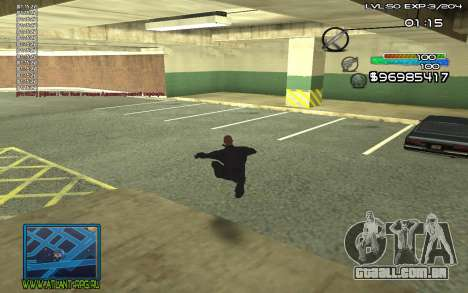 С-HUD por steelman deve para GTA San Andreas