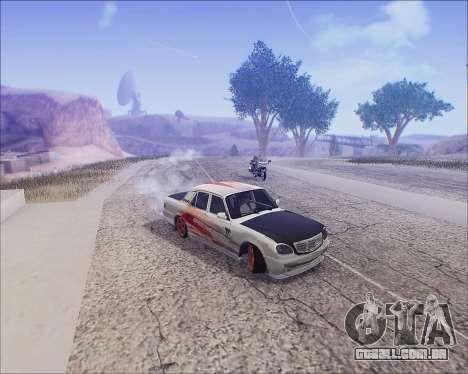 GAZ 31105 Tuneable para GTA San Andreas vista superior