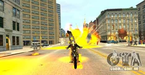 Ghost Rider para GTA 4 por diante tela