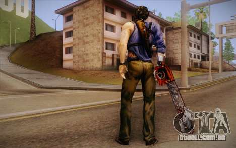 Ash Williams из Evil Dead Regeneração para GTA San Andreas segunda tela