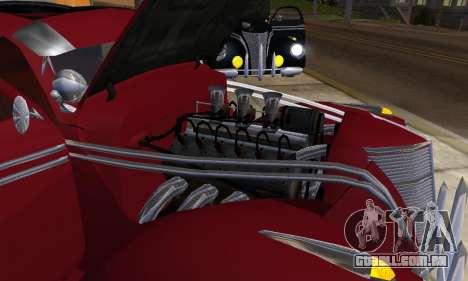 Lincoln Zephyr 1946 para GTA San Andreas traseira esquerda vista