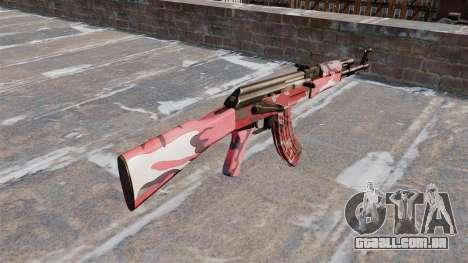 A AK-47 urbana Vermelho para GTA 4 segundo screenshot