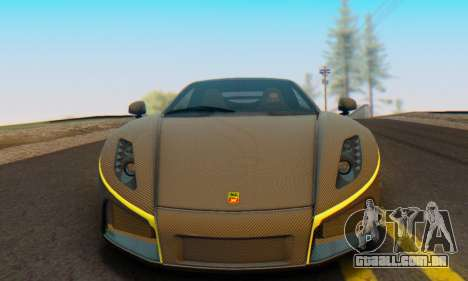 GTA Spano 2014 Carbon Edition para GTA San Andreas vista direita