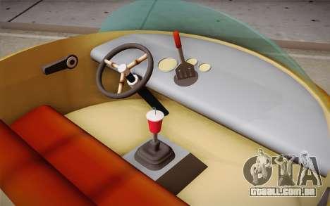Spongebobs Burger Mobile para GTA San Andreas traseira esquerda vista