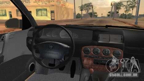 Opel Omega B para GTA San Andreas traseira esquerda vista