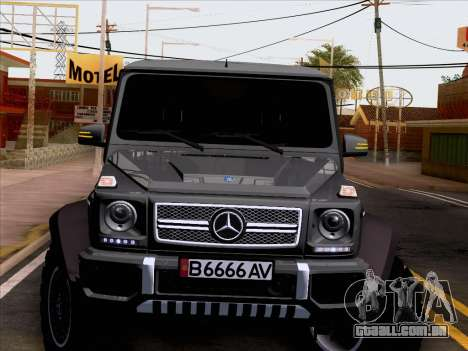 Mercedes-Benz G65 AMG 6X6 para vista lateral GTA San Andreas