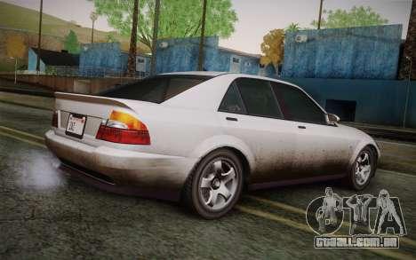 Sultan из GTA 5 para GTA San Andreas esquerda vista