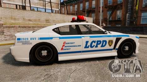 GTA V Bravado Buffalo LCPD para GTA 4 esquerda vista