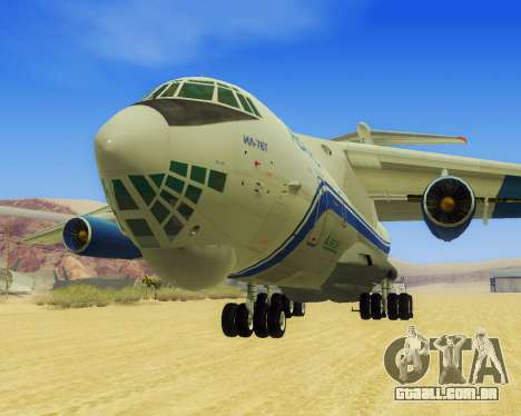 Il-76T AVAST para GTA San Andreas esquerda vista