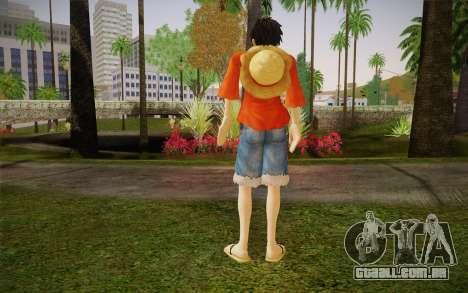 One Piece Monkey D Luffy para GTA San Andreas segunda tela