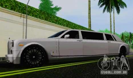 Rolls-Royce Phantom Limo para GTA San Andreas esquerda vista