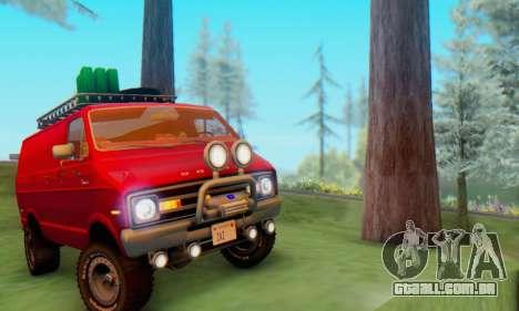 Dodge Tradesman Van 1976 para GTA San Andreas traseira esquerda vista
