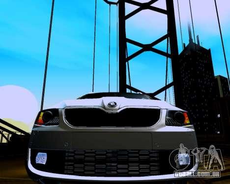 Skoda Octavia A7 Combi para GTA San Andreas vista traseira
