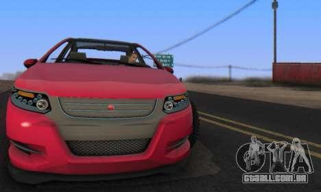 Cheval Surge V1.0 para GTA San Andreas traseira esquerda vista