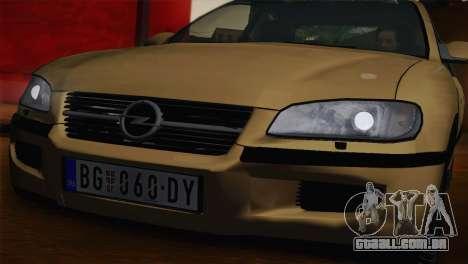 Opel Omega B para GTA San Andreas esquerda vista