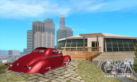 Lincoln Zephyr 1946 para GTA San Andreas esquerda vista