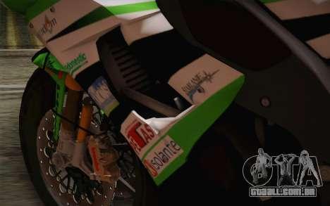 Kawasaki ZX-10R Ninja para GTA San Andreas vista interior