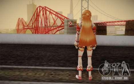 Asuna SAO para GTA San Andreas segunda tela