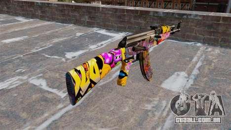 A AK-47 Graffitti para GTA 4 segundo screenshot
