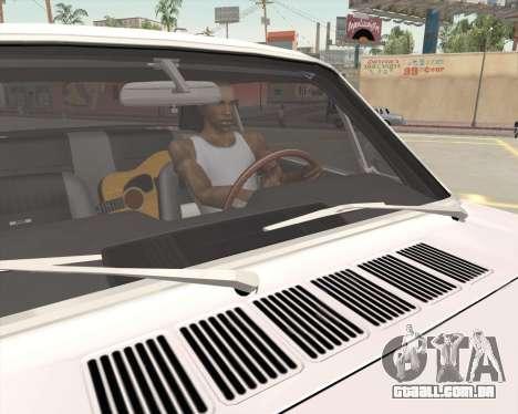 Animação pressionando sinal para GTA San Andreas quinto tela