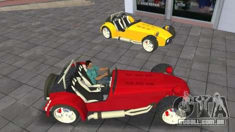 Caterham Super Seven para GTA Vice City vista direita