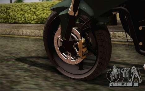 Yamaha FZ6 para GTA San Andreas traseira esquerda vista