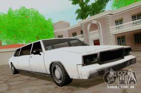 Tahoma Limousine para GTA San Andreas