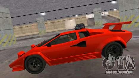 Lamborghini Countach LP5000 Extreme para GTA Vice City vista traseira esquerda