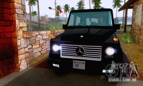 Mercedes-Benz G500 1999 Short para vista lateral GTA San Andreas