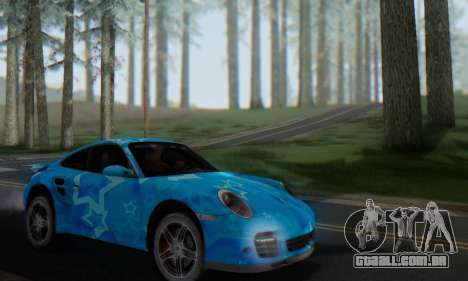 Porsche 911 Turbo Blue Star para GTA San Andreas vista interior