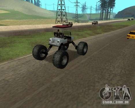 Caddy Monster Truck para GTA San Andreas esquerda vista