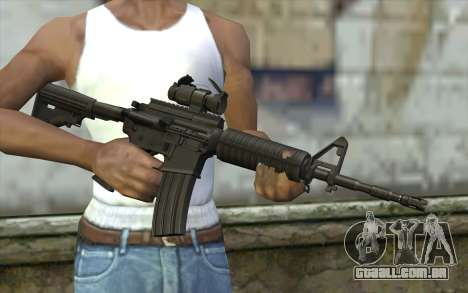 Ricks M4A1 from The Walking Dead S3 para GTA San Andreas terceira tela