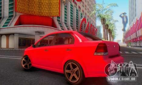 DeClasse Asea V1.0 para GTA San Andreas vista interior